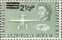 [Antarctic Research - Issues of 1963 Surcharged, Typ E1]
