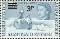[Antarctic Research - Issues of 1963 Surcharged, Typ F1]