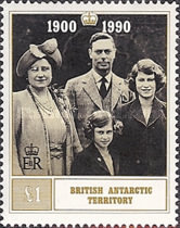 [The 90th Anniversary of the Birth of Queen Elizabeth The Queen Mother, 1900-2002, Typ FJ]