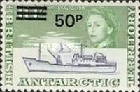 [Antarctic Research - Issues of 1963 Surcharged, Typ O1]