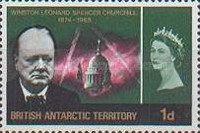 [The 1st Anniversary of the Death of Winston Churchill, 1874-1965, Typ R1]