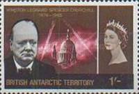 [The 1st Anniversary of the Death of Winston Churchill, 1874-1965, Typ R2]