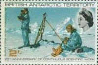 [The 25th Anniversary of the Permanent Scientific Research in the Antarctic, Typ V]
