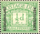 """[Great Britain Postage Due Stamps Overprinted """"BECHUANALAND - PROTECTORATE"""", type A]"""