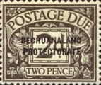 """[Great Britain Postage Due Stamps Overprinted """"BECHUANALAND - PROTECTORATE"""", type A2]"""