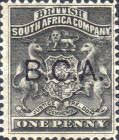 "[South Africa Company Stamps Overprinted ""B.C.A."", type A]"