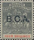 "[South Africa Company Stamps Overprinted ""B.C.A."", type A10]"