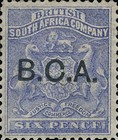 "[South Africa Company Stamps Overprinted ""B.C.A."", type A4]"