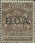 "[South Africa Company Stamps Overprinted ""B.C.A."", type A6]"