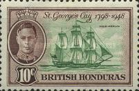 [The 150th Anniversary of the Battle of St. George`s Cay, type AT1]