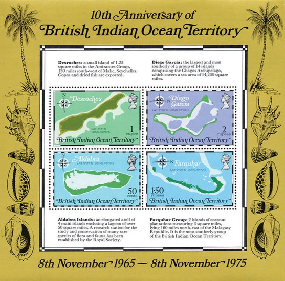 [Maps - The 10th Anniversary of the British Indian Ocean Territory, Typ ]