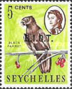 [Seychelles Postage Stamps Overprinted B.I.O.T, type A]