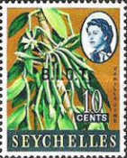 [Seychelles Postage Stamps Overprinted B.I.O.T, type A1]