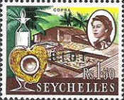 [Seychelles Postage Stamps Overprinted B.I.O.T, type A10]