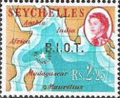 [Seychelles Postage Stamps Overprinted B.I.O.T, Typ A11]