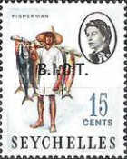 [Seychelles Postage Stamps Overprinted B.I.O.T, type A2]