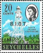 [Seychelles Postage Stamps Overprinted B.I.O.T, type A3]