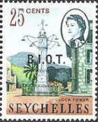 [Seychelles Postage Stamps Overprinted B.I.O.T, type A4]