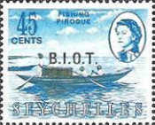 [Seychelles Postage Stamps Overprinted B.I.O.T, type A6]