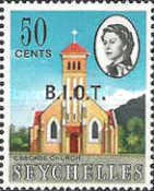 [Seychelles Postage Stamps Overprinted B.I.O.T, type A7]