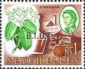 [Seychelles Postage Stamps Overprinted B.I.O.T, type A9]