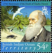 [The 125th Anniversary of the Death of Charles Darwin, 1809-1882, Typ OR]