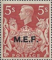 [King George VI - Great Britain Postage Stamps Overprinted
