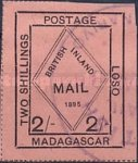 "[Privat Post Issue - Iscription: ""BRITISH INLAND MAIL 1895"". Colored Paper, type D5]"