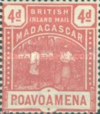 [British Inland Mail - Madagascar, type E1]