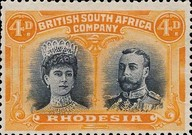[King George V, 1865-1936 & Queen Marie, 1867-1953, type O10]