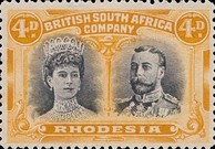 [King George V, 1865-1936 & Queen Marie, 1867-1953, type O11]