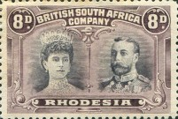 [King George V, 1865-1936 & Queen Marie, 1867-1953, type O15]