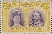 [King George V, 1865-1936 & Queen Marie, 1867-1953, type O8]