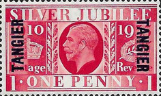 [The 25th Anniversary of the Reign of King George V - Great Britain Stamps Overprinted