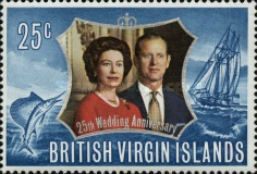 [The 25th Wedding Anniversary of Queen Elizabeth II & Prince Philip, type ET1]