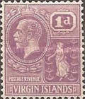 [King George V & St. Ursula - NEw Values and Colours, type K12]