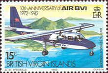 [The 10th Anniversary of the Airline AIR BVI, type MA]