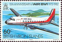[The 10th Anniversary of the Airline AIR BVI, type MB]