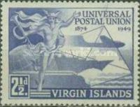 [The 75th Anniversary of the Universal Postal Union, type R]