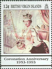[The 40th Anniversary of the Coronation of Queen Elizabeth II, type ZA]