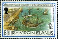 [The 500th Anniversary of the Discovery of the British Virgin Islands by Christopher Columbus, type ZF]