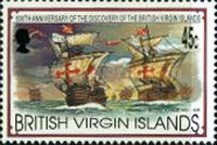 [The 500th Anniversary of the Discovery of the British Virgin Islands by Christopher Columbus, type ZJ]