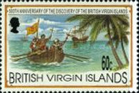 [The 500th Anniversary of the Discovery of the British Virgin Islands by Christopher Columbus, type ZK]