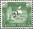 [No. 137 Surcharged in Burmese, type CY]