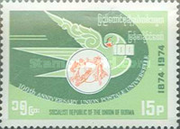 [The 100th Anniversary of Universal Postal Union, type FK]