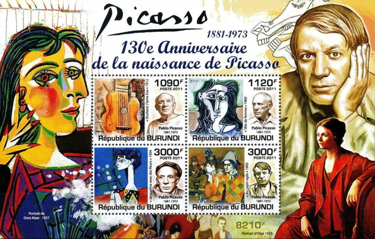 [Personalities - The 130th Anniversary of the Birth of Picasso, 1881-1973, Typ ]