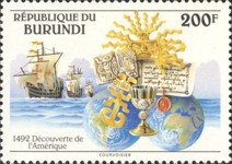 [The 500th Anniversary of Discovery of America by Columbus, Typ BCD]