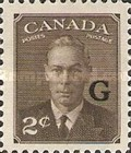 """[King George VI - Stamps of 1949 Overprinted """"G"""", type E1]"""