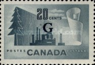 """[Stamps of 1946-1953 Overprinted """"G"""", type E13]"""