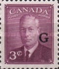 """[King George VI - Stamps of 1949 Overprinted """"G"""", type E3]"""